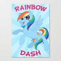 mlp Canvas Prints featuring MLP FiM: Rainbow Dash by Yiji