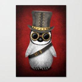 Steampunk Baby Penguin Canvas Print