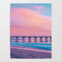 Cotton Candy Sunset Poster