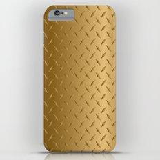 Gold Diamond Plate Slim Case iPhone 6 Plus