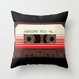 awesome mix vol 1 new hot 2018 CD love cute sticker cover iphone pattern casate art support design Throw Pillow