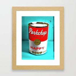 CONDENSED HAPPY Framed Art Print