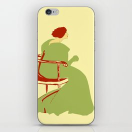Living posters minimalist art nouveau iPhone Skin