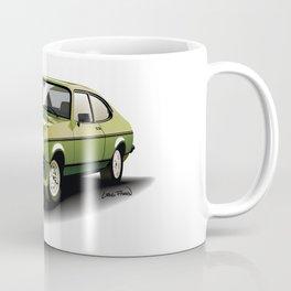 Green Ford Capri Coffee Mug