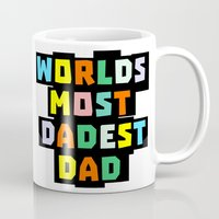 dad Mugs featuring Dad by mailboxdisco