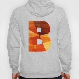 Letter B - Wood Initial Hoody