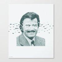 robert farkas Canvas Prints featuring Robert by Brock Davis