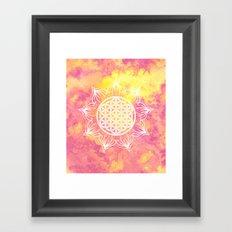Flower Of Life (Batik 6) Framed Art Print