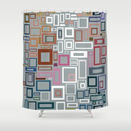 Abstract Composition 685 Shower Curtain