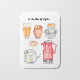 for the love of chai Bath Mat