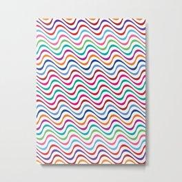 Rippling Colors Metal Print