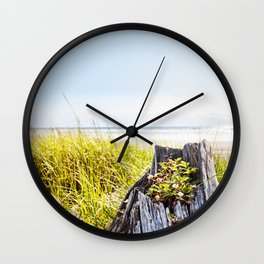 Beach Strawberries Wall Clock