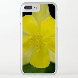 Golden Spur Columbine in Bloom Clear iPhone Case