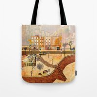brooklyn Tote Bags featuring Brooklyn by Katy Davis