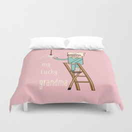 My lucky grandma Duvet Cover