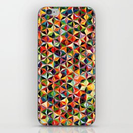 Star Cubes Geometric Art Print. iPhone Skin