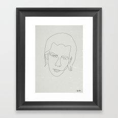 One line Nick Cave Framed Art Print