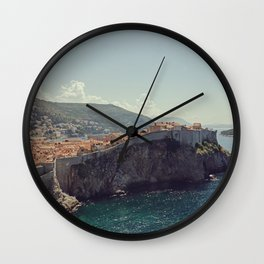 Dubrovnik and the Adriatic sea - Fine Art Travel Photography Wall Clock