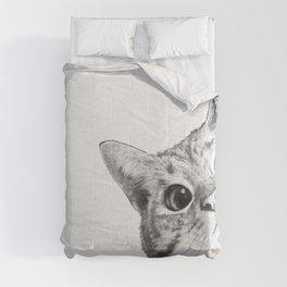 sneaky cat Comforters