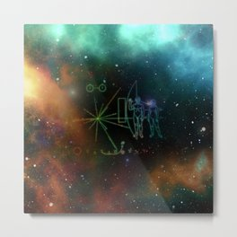 Nasa Pioneer Craft Alien Food Map Nebula Metal Print