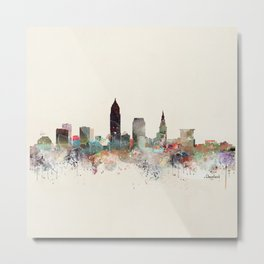cleveland ohio skyline Metal Print
