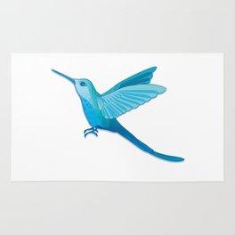 Blue hummingbird colibri Rug