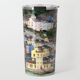 Colorful Cobh Ireland Travel Mug