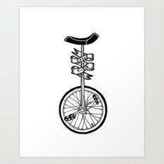 Monocycle Art Print