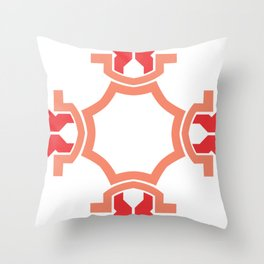 Red four sides Throw Pillow