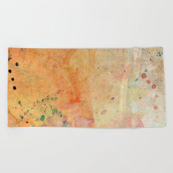 Pastel Color Splash 08 Beach Towel