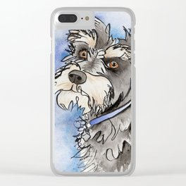 Scribble Schnauzer Clear iPhone Case