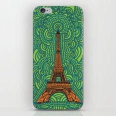 Eiffel Tower Drawing Meditation - orange/green/blue iPhone & iPod Skin
