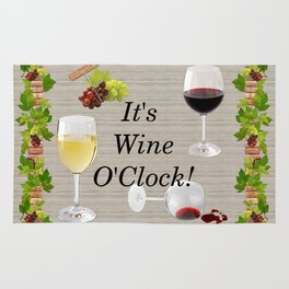 It's Wine O'Clock Rug