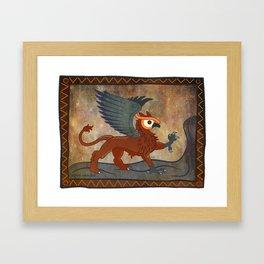 gr.eye.ffin Framed Art Print