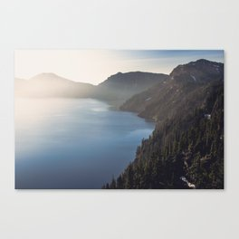First Light at the Lake Canvas Print