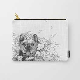 Pug in the Leaves Carry-All Pouch