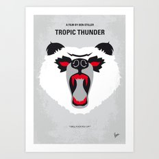 No344 My TROPIC THUNDER minimal movie poster Art Print
