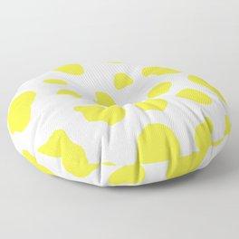 Yellow Cow Print Background Floor Pillow