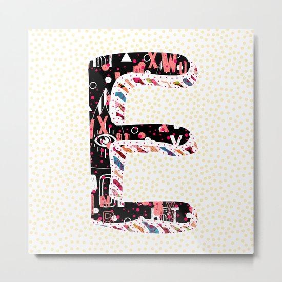 E (Coffee Series) Metal Print