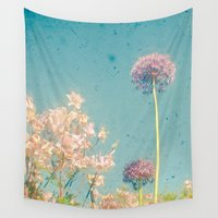 garden Wall Tapestries featuring Garden by Cassia Beck