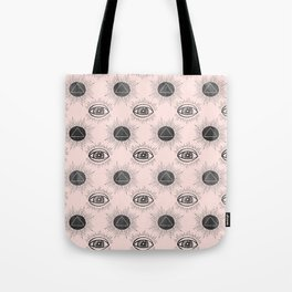 Eye of wisdom pattern - Pink & Black - Mix & Match with Simplicity of Life Tote Bag