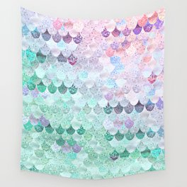 SUMMER MERMAID - CORAL MINT Wall Tapestry