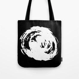 Whorl Black and White Tote Bag