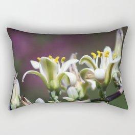 Closeup of Hesperaloe Parviflora Flower on Vivid Violet Background Rectangular Pillow