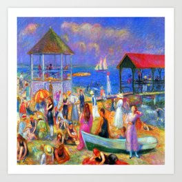 William Glackens Beach Scene Art Print