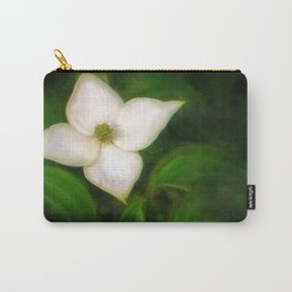 Single Dogwood Flower Natural Carry-All Pouch