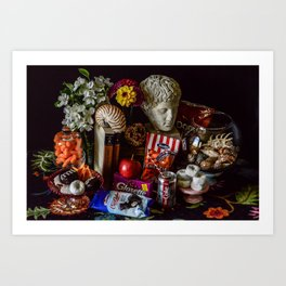 Junk Food Still Life Art Print