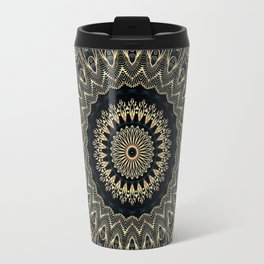 Gold Filigree Mandala Travel Mug