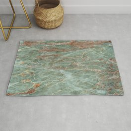 Sage and Rust Marble Rug
