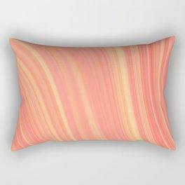 Living Coral Marble Rectangular Pillow